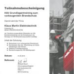 Brandschutz HILTI Schulung
